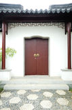 Wood door. A chinese traditional wood door in the garden Stock Photos