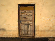 Wood door. Royalty Free Stock Photo