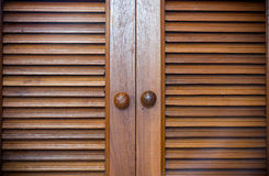 Wood door background. Royalty Free Stock Images
