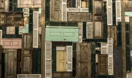 Wood Door Background. Colorful Old Wood Doors Background Royalty Free Stock Photography