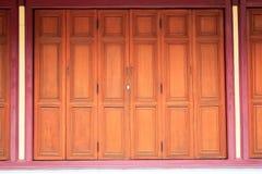 Wood Door. In Bangkok,Thailand Royalty Free Stock Image