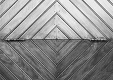 Wood Door Black and White Lines Royalty Free Stock Image