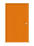 Wood Door with Blank Window. Illustration of a wooden door isolated on a white background royalty free illustration