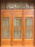 Wood door Chinese Style Stock Photos