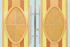 wood door close up Stock Photo