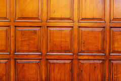 Wood door design  Royalty Free Stock Images
