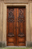 Wood door detail Royalty Free Stock Images