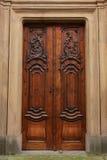 Wood door detail Royalty Free Stock Images