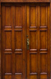 Wood door details of building retro Royalty Free Stock Photography