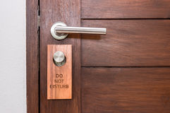 Wood door , do not disturb Stock Photo