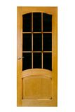 Wood door with glass Stock Image