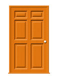 Wood Door Illustration. Illustration of a wood door with panels isolated on a white background vector illustration