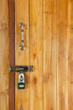 Wood door with locked Stock Image