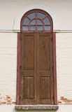 Wood door of old church Royalty Free Stock Photography
