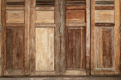 The Wood Door Old Condition Classic Style Royalty Free Stock Photo
