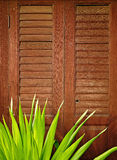 Wood door retro style Stock Photography