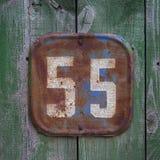 Wood door sign Stock Image