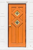 Wood door of temple Royalty Free Stock Images