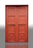 Wood door in a temple Royalty Free Stock Photos