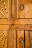 Wood door venegono  varese Stock Photos