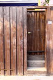 Wood Door and Wall Stock Image