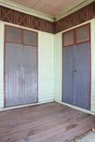 Wood door and wall in school Royalty Free Stock Image