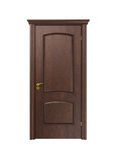 Wood door. On white background Stock Photos