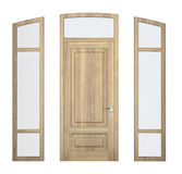 Wood doorframe Royalty Free Stock Photography