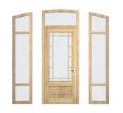 Wood doorframe Stock Images
