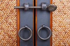 Wood doors. Two wood doors with medieval aparience Stock Image