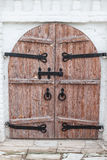 Wood doors of Assumption Cathedral Royalty Free Stock Image