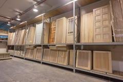 Wood Doors Building Hardware Stock Photography