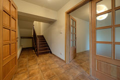 Wood doors and stairs in new home Royalty Free Stock Photos
