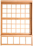 Wood Double Hung Windows. Double-hung window parts. Stock Photography