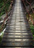 Wood drawbridge Stock Photography