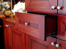 Wood drawer Stock Images