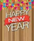 Wood droppe för lyckligt nytt år Royaltyfria Bilder