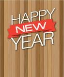 Wood droppe för lyckligt nytt år Arkivfoto