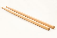 Wood Drumsticks isolated in white background Royalty Free Stock Images