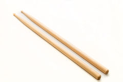 Wood Drumsticks isolated in white background Stock Photo