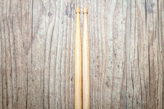 Wood Drumsticks in wood background Stock Photos