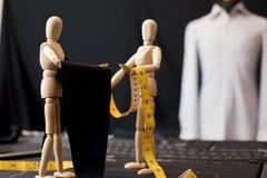 Wood dummy clothing fabric Stock Photography