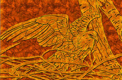 Wood eagle Royalty Free Stock Images