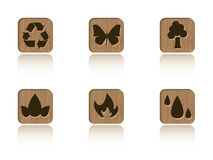 Wood ecology tile set Royalty Free Stock Photography