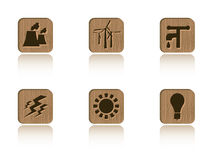 Wood ecology tile set Stock Photos