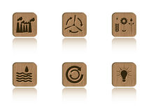 Wood ecology tile set Royalty Free Stock Images