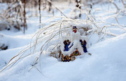 At the wood on an edge there lives the winter in an izba (house) 2... Stock Image
