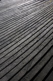 Wood effect textured plastic planks. High-density polyethylene HDPE wood effect texture planks used for decking - a polyethylene thermoplastic made from stock photo