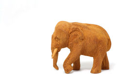 Wood elefant Arkivbilder