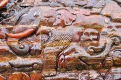 Wood elephant background Royalty Free Stock Image